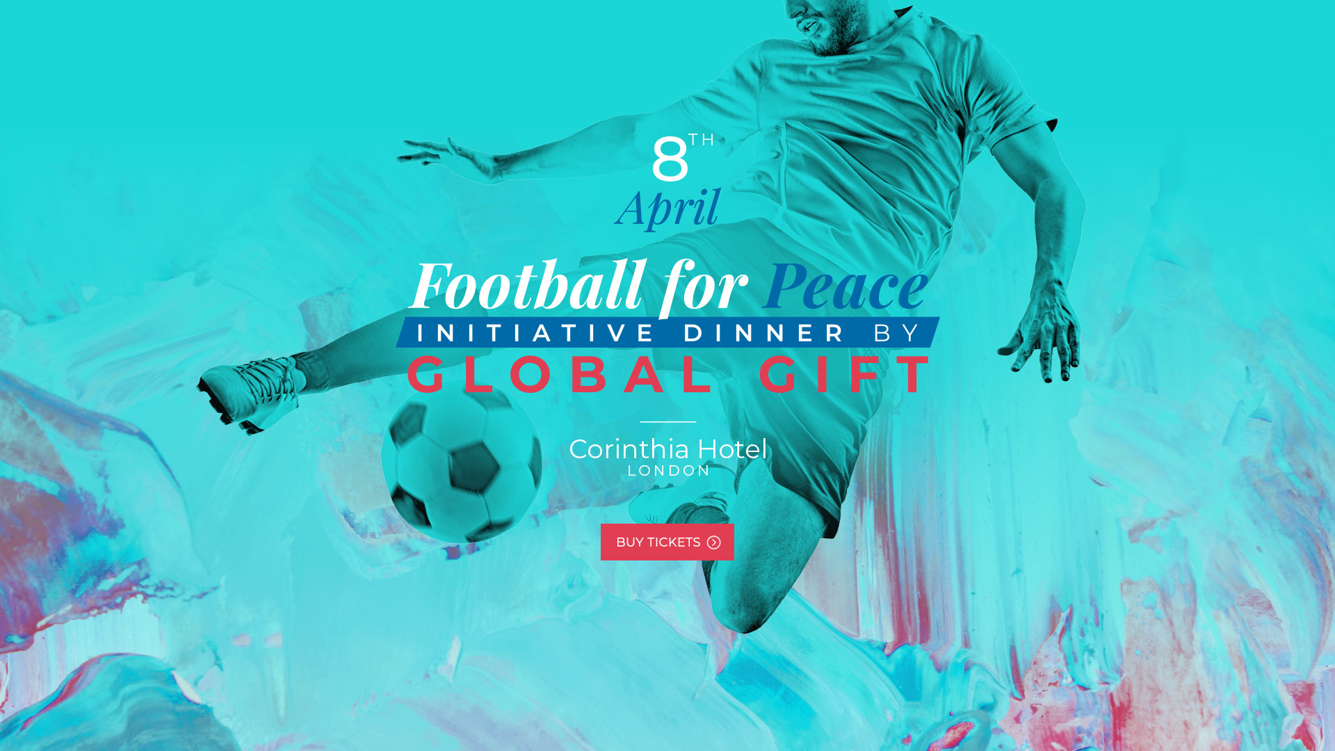 Footbal for Peace initiative dinner by Global Gift