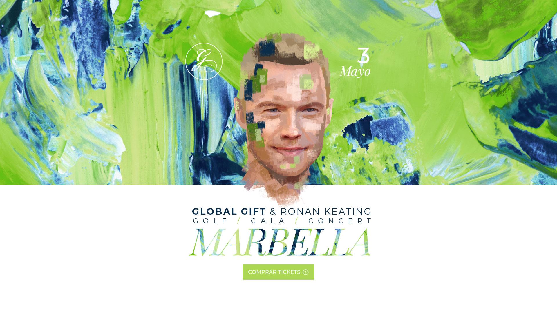 Global Gift & Ronan Keating - Golf / Gala / Concert - Marbella